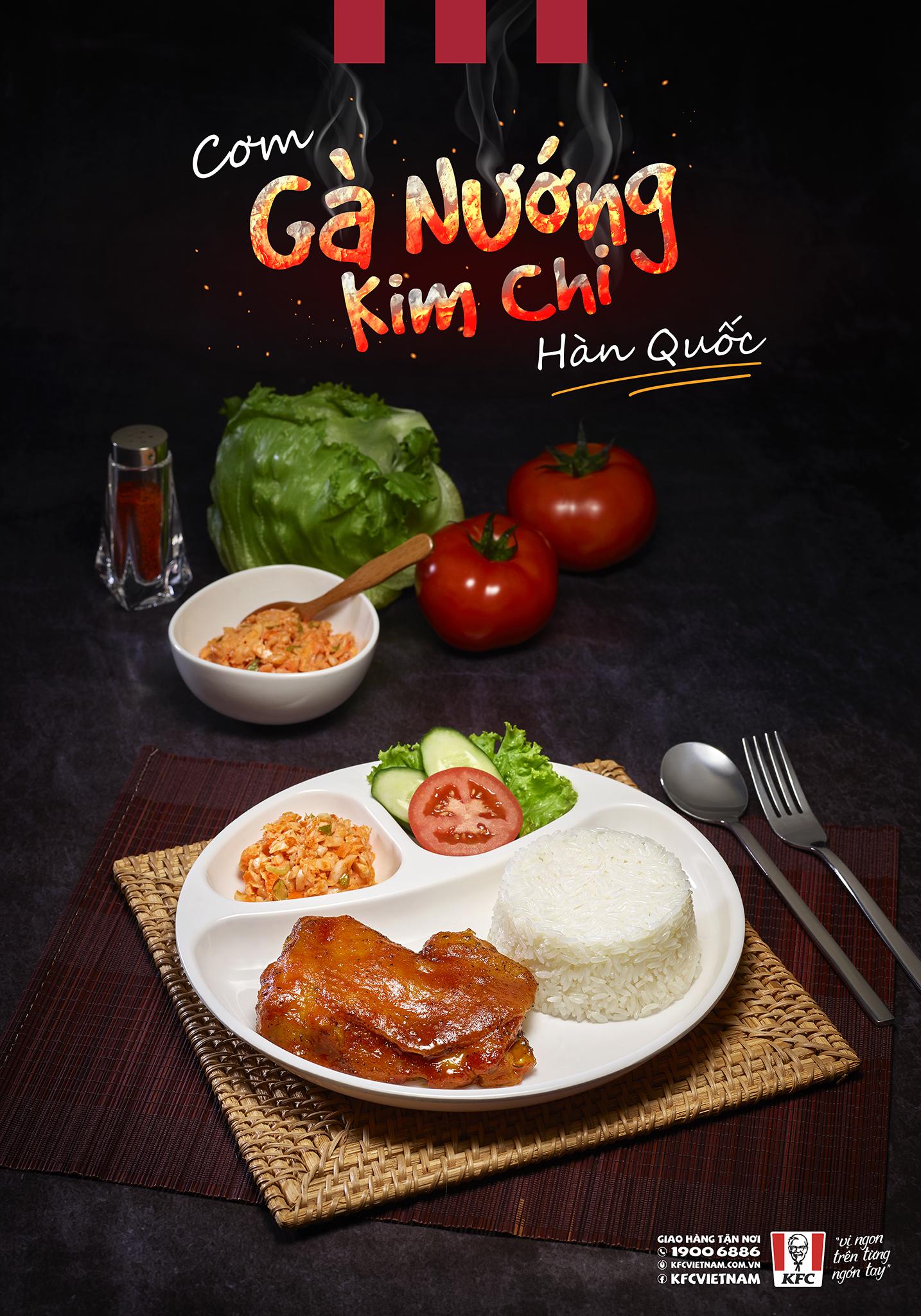 Cơm Gà Nướng Kim Chi KFC – Hương Vị Khó Quên !