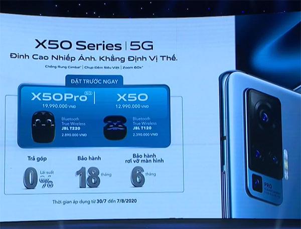 vivo X50 series trình làng, giá từ 13 triệu đồng