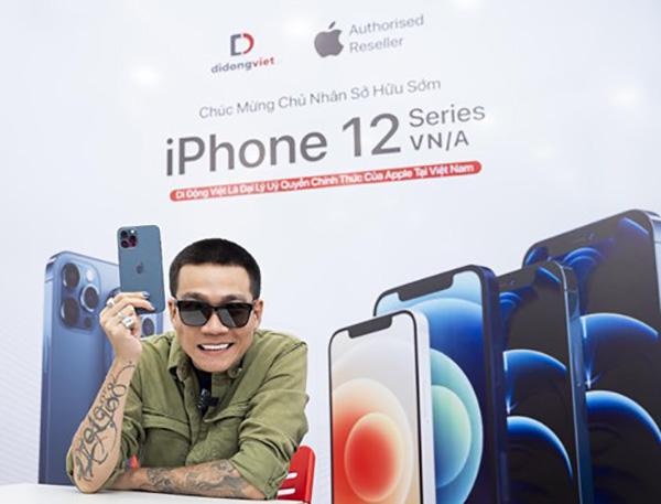 Wowy là 1 trong 100 khách hàng đầu tiên sở hữu iPhone 12 Pro Max mã VN/A