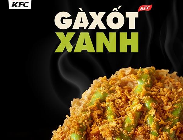 KFC thêm món mới gà xốt xanh