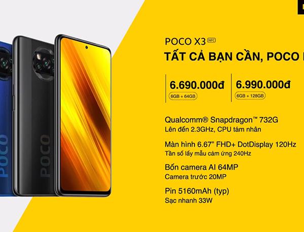 POCO X3 NFC chính thức mở bán hôm nay,  giá từ 6,69 triệu đồng