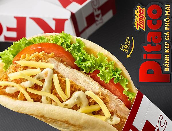 """Thưởng thức món mới """"PITACO""""từ KFC"""