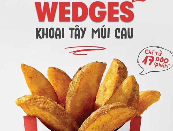 Thực đơn mới từ KFC: Khoai tây múi cau WEDGES