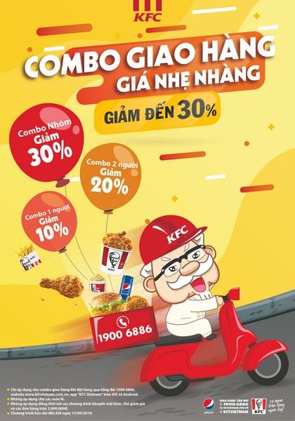 [KFC] Combo giao hàng – Giá nhẹ nhàng!