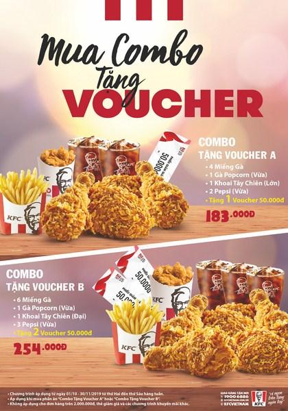 Ăn KFC – Nhận ngay voucher 50K!