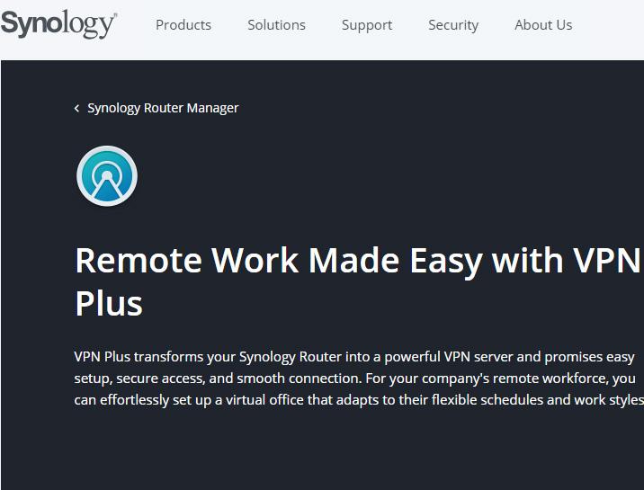 Synology cung cấp dịch vụ VPN Plus miễn phí cho người dùng