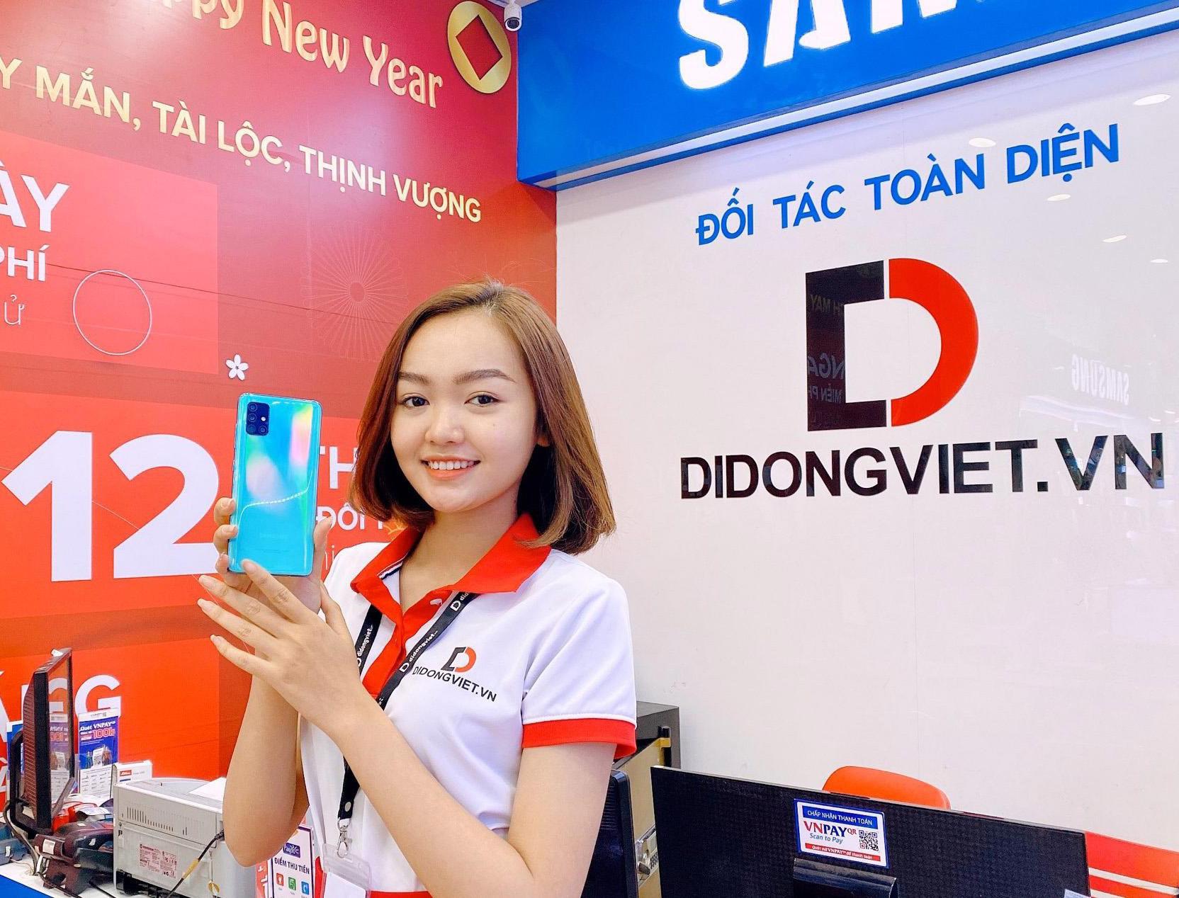 Di Động Việt giảm giá sốc cho bộ đôi Samsung Galaxy A51/ A71