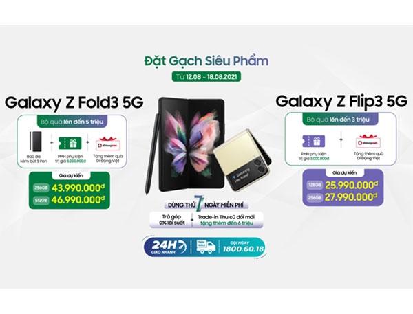 Di Động Việt nhận đặt trước bộ đôi smartphone màn hình gập Galaxy Z thế hệ 3 với nhiều ưu đãi hấp dẫn