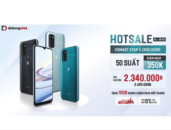 Di Động Việt mớ bán Vsmart Star 5 với giá chỉ 2,34 triệu đồng