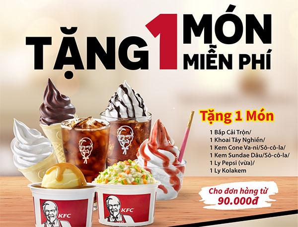 KFC tặng một món miễn phí